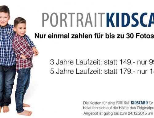 Eine kleine Gebühr und 3 oder 5 Jahre lang Ihr Kind fotografieren lassen!