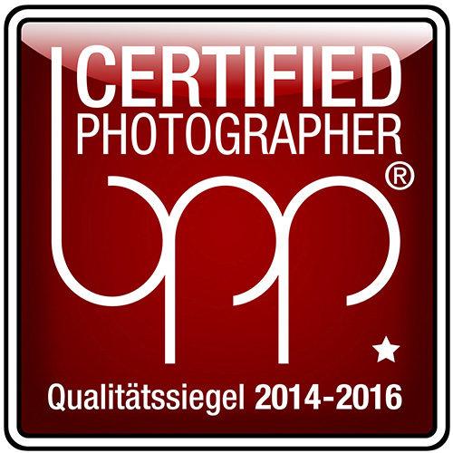bpp certified photographier Auszeichnung mit einem Stern